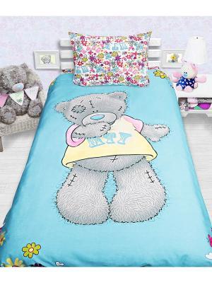 Комплект постельного белья 1,5сп (Teddy) MTY н(1)50*70 Me to you. Цвет: голубой