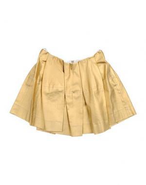 Джинсовая юбка MIMISOL. Цвет: золотистый