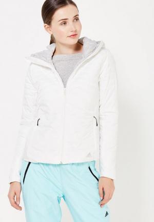Куртка утепленная adidas Performance. Цвет: белый