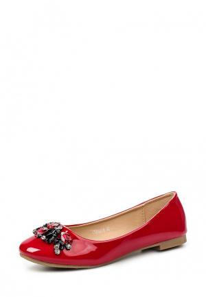 Балетки Tulipano. Цвет: красный