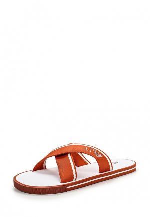 Сланцы Armani Jeans. Цвет: оранжевый