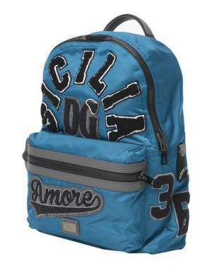 Рюкзаки и сумки на пояс DOLCE & GABBANA. Цвет: цвет морской волны