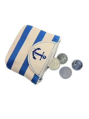Монетница Кажан. Цвет: темно-синий, белый