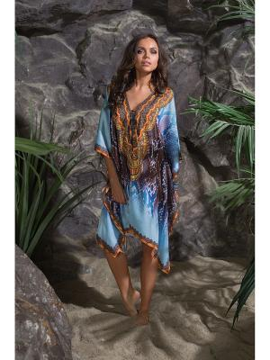 Платье - туника Mia-Mia. Цвет: голубой