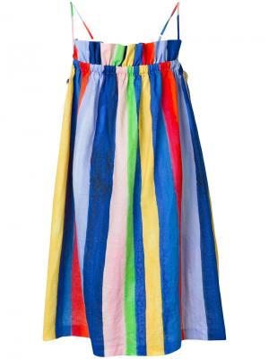 Присборенное платье в полоску Mara Hoffman. Цвет: многоцветный