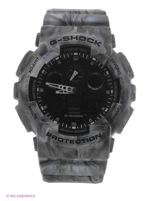 Часы G-Shock GA-100MM-8A CASIO. Цвет: серый