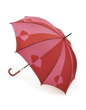 Зонт-трость Губы  by Fulton Lulu Guinness. Цвет: красный