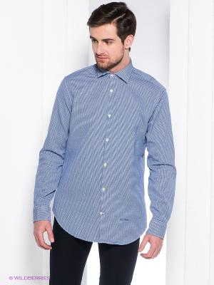 Рубашка Henry Cotton's. Цвет: синий