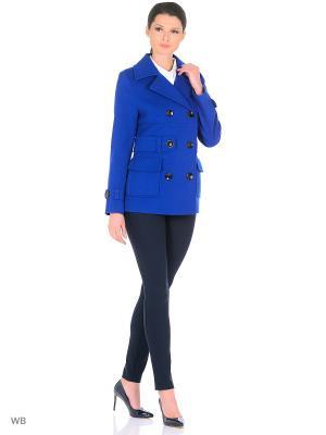 Пальто Фарт Фаворита. Цвет: синий