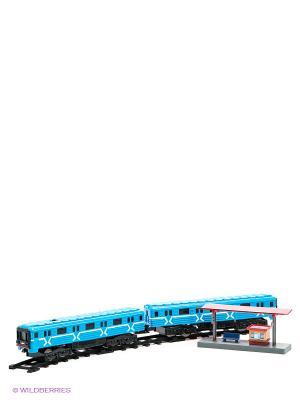 Железная дорога Играем вместе со светом и звуком. Цвет: черный, голубой, красный