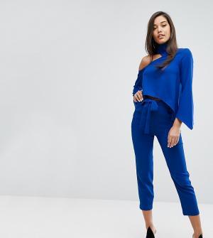 Parallel Lines Комбинируемые строгие брюки с поясом. Цвет: синий