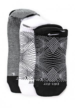 Комплект 3 пары Nike. Цвет: черно-белый