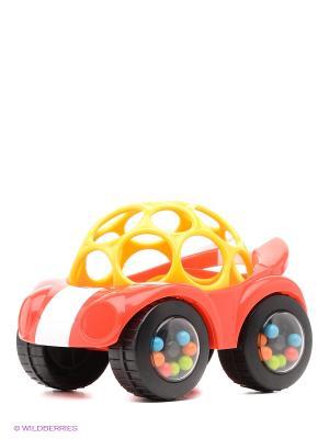 Развивающая игрушка Машинка красная Oball. Цвет: красный, желтый
