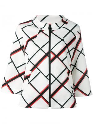Куртка на молнии Aline Rossignol. Цвет: белый