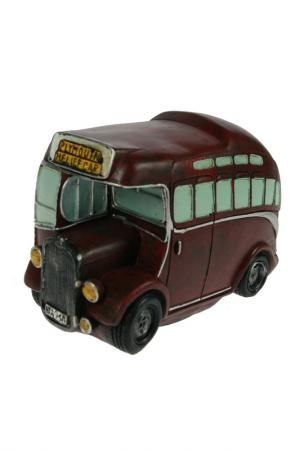 Копилка-ретро Автобус Русские подарки. Цвет: бордовый