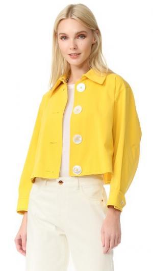 Укороченная куртка-тренч EDUN. Цвет: желтый