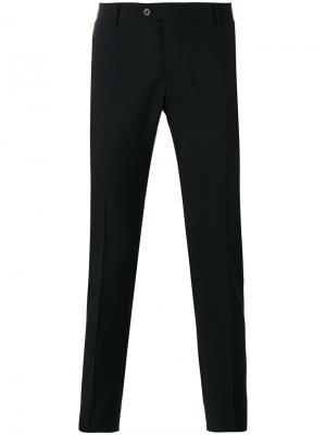 Классические брюки кроя слим Tonello. Цвет: чёрный