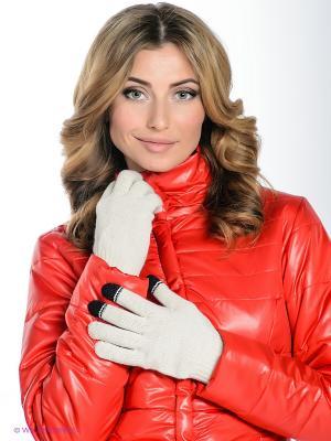 Перчатки Milana Style. Цвет: кремовый, черный