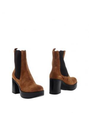 Полусапоги и высокие ботинки JEANNOT. Цвет: верблюжий