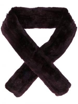 Классический шарф Yves Salomon Accessories. Цвет: красный