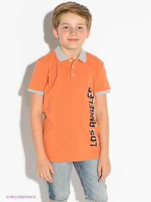 Футболка-поло GUESS. Цвет: оранжевый