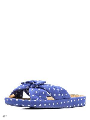 Тапочки TINGO. Цвет: голубой