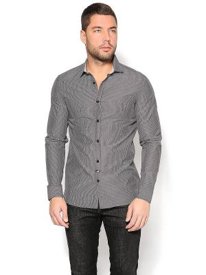 Рубашка MOSCHINO. Цвет: серый