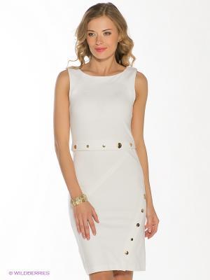 Платье SILVIAN HEACH. Цвет: белый, золотистый