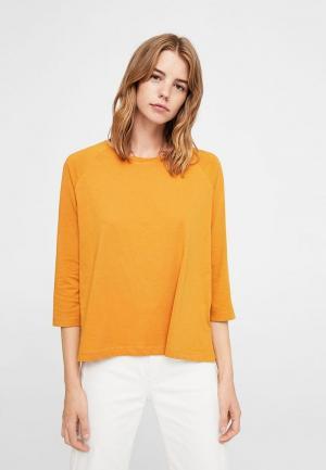 Лонгслив Mango. Цвет: оранжевый
