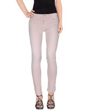 Джинсовые брюки REIKO. Цвет: телесный