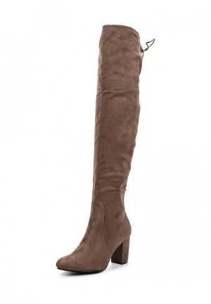 Ботфорты Max Shoes. Цвет: коричневый