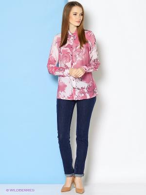 Блузка Trussardi. Цвет: розовый