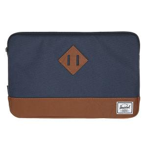Чехол для ноутбука  Heritage Sleeve For Macbook Navy/Tan Synthetic Leather Herschel. Цвет: синий,коричневый