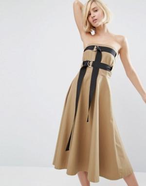 Style Mafia Платье Aella. Цвет: коричневый