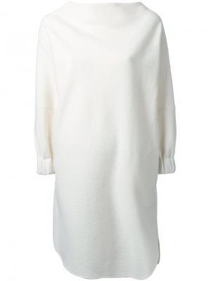 Платье с высоким воротником Nehera. Цвет: белый