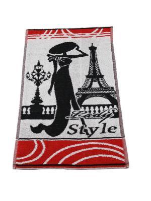 Полотенце махровое пестротканое жаккардовое 70x40 (Lady Style) Авангард. Цвет: черный,красный,белый