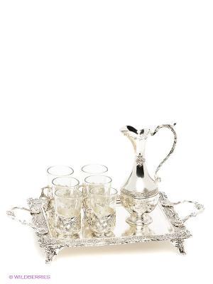 Чайный набор Роза Marquis. Цвет: серебристый