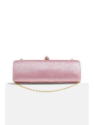 Шикарный клатч футляр со стразами и съемными цепочками Нью-Йорк Nothing but Love. Цвет: розовый