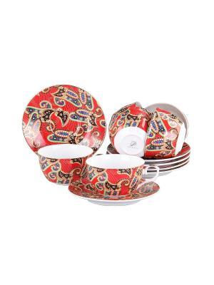Набор чайный 12 предметов 250 мл., шт PATRICIA. Цвет: красный
