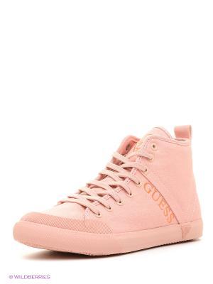 Кеды GUESS. Цвет: бледно-розовый