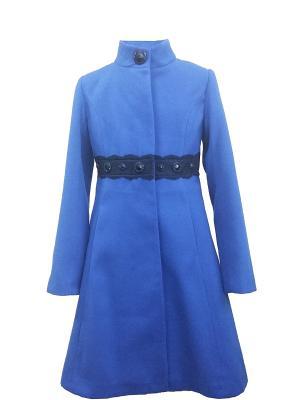 Пальто DESTY. Цвет: синий