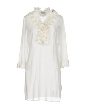 Короткое платье RA-RE. Цвет: белый