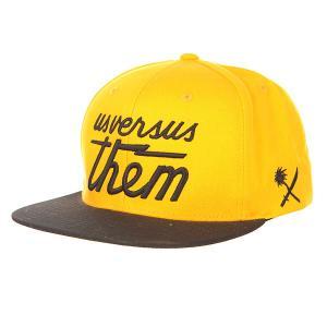 Бейсболка с прямым козырьком  Magnum Cap Gold Us Versus Them. Цвет: оранжевый,черный