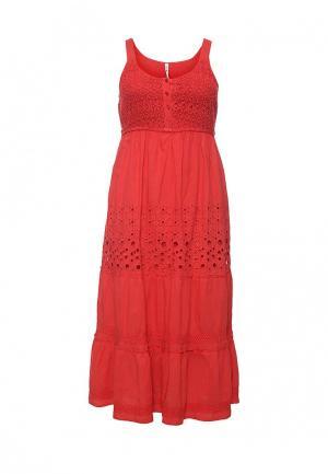 Платье Fresh Cotton. Цвет: коралловый