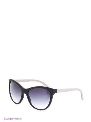 Солнцезащитные очки TOUCH. Цвет: черный, серебристый