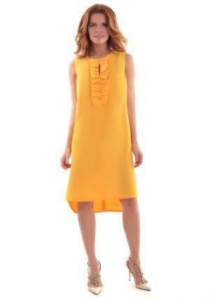 Платье MY STYLE. Цвет: золотисто-желтый