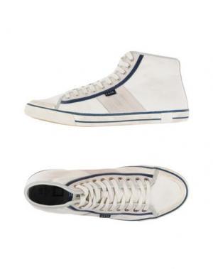 Высокие кеды и кроссовки D.A.T.E.. Цвет: белый