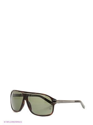 Очки солнцезащитные Montblanc. Цвет: темно-коричневый, серо-зеленый