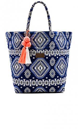 Пляжная сумка carried away Seafolly. Цвет: синий