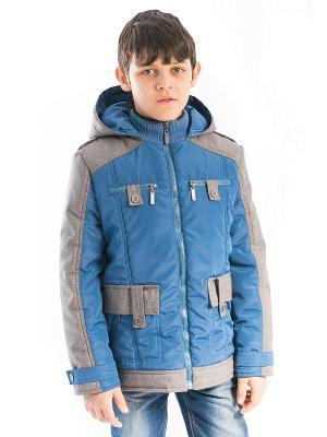 Куртка Лева Аксарт. Цвет: синий